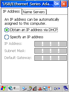 3. FAQ and Troubleshoot Ethernet Ethernet Q1. Cannot use Ethernet Static IP Configuration Windows Mobile A1-1.