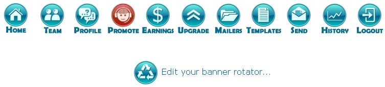 Here you can add your 125x125 banners to be displayed to all users in the members area. Click on the + ADD NEW button now.