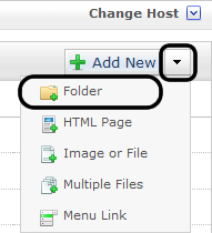 dotcms & Accessibility Folders Creating a New Folder Note: All folders showing on menu must have an index page. 1. Right-click the parent folder in which the new folder will reside. 2.