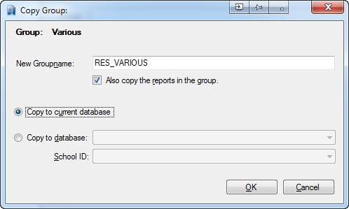 Clicking create or edit will enable the text input box to create a report group or change its name.