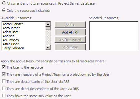 Security 37 Category / resource association You can explicitly select resources that users with permissions in this category can view, or you can use one of the dynamic security options to have