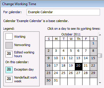 Enterprise Data 89 Change the working times for a working day While the specific days on the calendar may be accurately accounted for as working and nonworking, there may be working days that use a