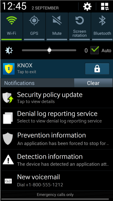 how to change knox password