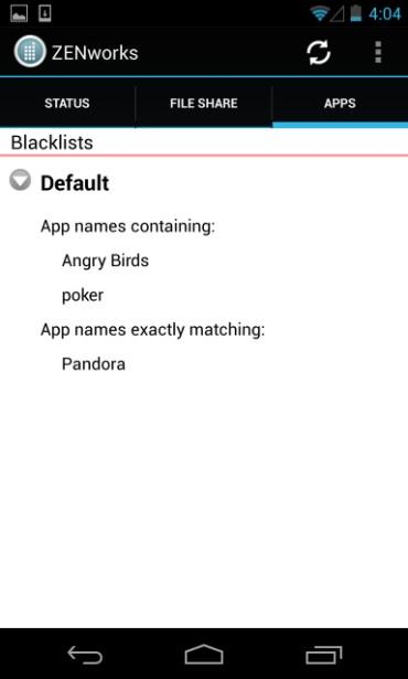 Blacklists / Whitelists Your organization s usage policy may only permit selected mobile applications. All others can be restricted with the use of a blacklist or whitelist.