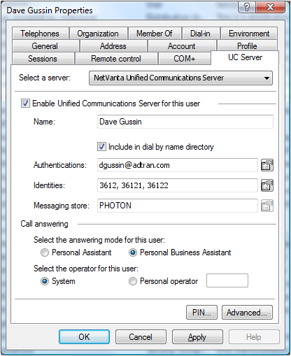 11 NetVanta UC Administration Experience Fast Automated Wizard Based Deployment (< 15 minutes/user) Active Directory Integration Day-to-day UC profile management Single sign-on/delegation of control