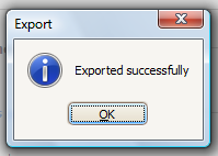 Select the folder where you want to save the exported file, provide the file name and click on Save.