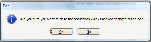 15. Exit: When you like to close the Application you can click Exit. 16.