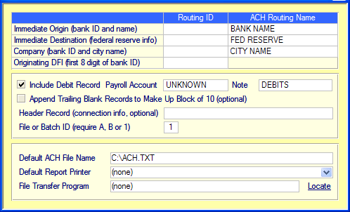 Setup Employer ACH Account From the main employee screen top ribbon click on view, special reports, and direct deposit. Next, click on setup employer s direct deposit info.
