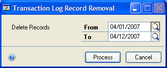 CHAPTER 5 MPS MANUFACTURING ORDERS Deleting transaction log records You can delete transaction log records displayed in the MO Transaction Log window as you solve the problems they described.