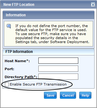 Changes To Existing Features in CA CSM v6 Secure FTP Deployment Deploy products to remote systems using FTP over TLS Allows data to be exchanged in a secure,