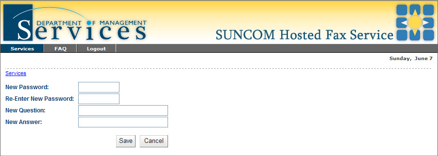 3.8 Getting Enrolled In order to begin using the hosted fax service, you must receive an enrollment email from noreply@suncomfax.fl.gov.