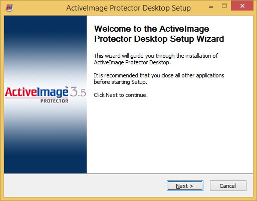 1.2. Installation of ActiveImage console (for remote management capabilities) ActiveImage Protector console cannot be launched on Hyper-V Server.