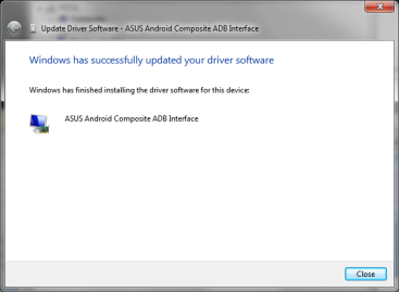USB Driver Installation Install OEM USB Driver from ASUS website. http://support.asus.