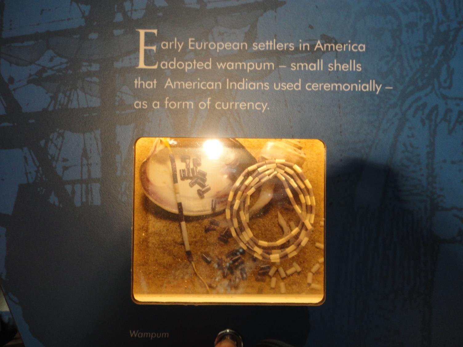 Money- History Early European settlers in America adopted wampum