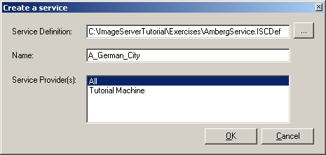 6. Click Tutorial Machine under the Service Provider column to highlight the row. 6. Click Open. 7. Click the Start button on the Image Server Manager window. The state will change to ON.