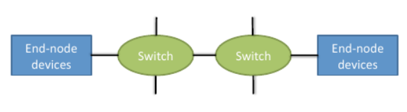 Distributed switched networks Each network switch has one or more end node devices directly attached to it Mostly used for distributed-memory architectures End-node devices: processor(s) + memory