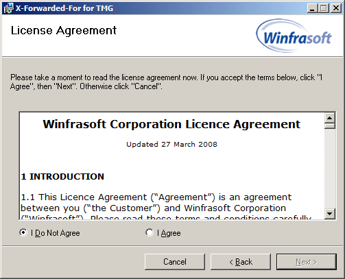 16 Winfrasoft X-Forwarded-For for TMG 2.