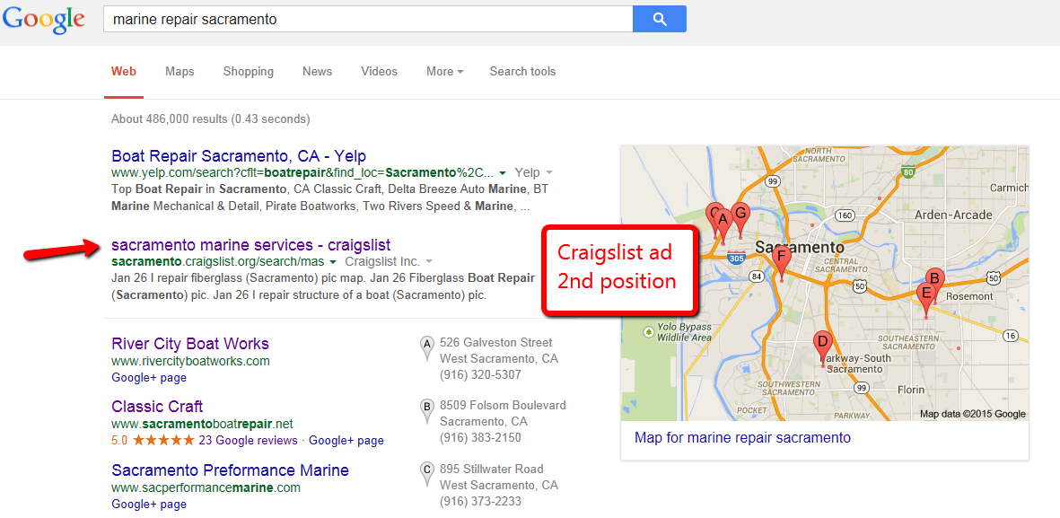 Craigslist Craigslist is the 7 th most popular website in the U.S. In addition, your ad can rank on the front page of Google.