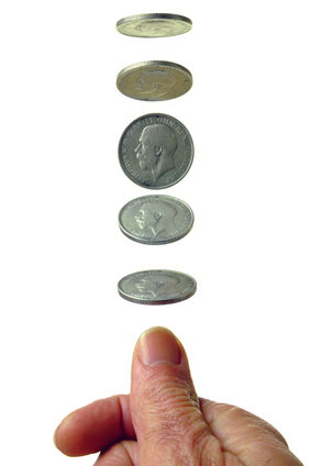Flipping coins Imagine flipping a fair coin three times... Give a probability model for this chance process.
