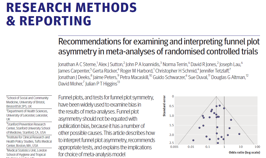 Comparing fixed and random-effects estimates When authors are concerned about small-study effects and there is evidence of between-study heterogeneity (I >0), then compare the fixed- and