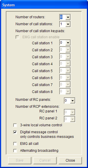 Plena Voice Alarm System Software Manual System en 13 3 System 3.1 Overview Use the System window (see figure 3.1) to enter information about the hardware of which the system consists.