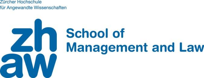 I. About us ZHAW School of Management and Law One of Swiss leading business schools: scientifically