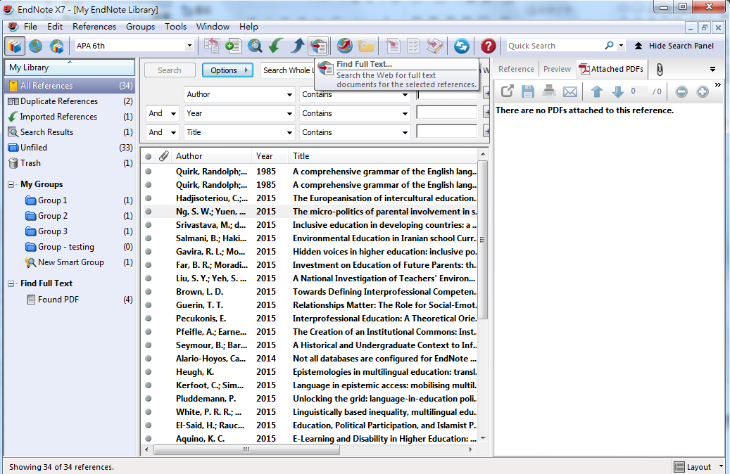 Finding and annotating PDF documents Select the
