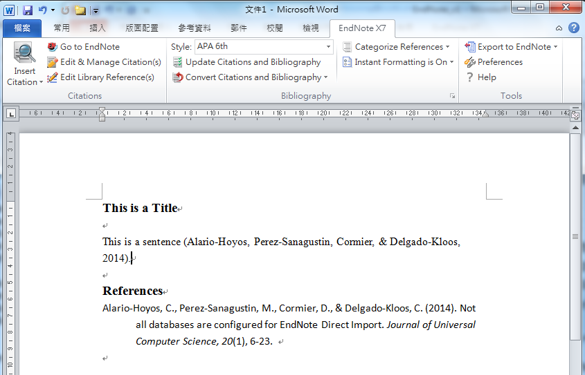 Cite references in Microsoft Word The citation and reference