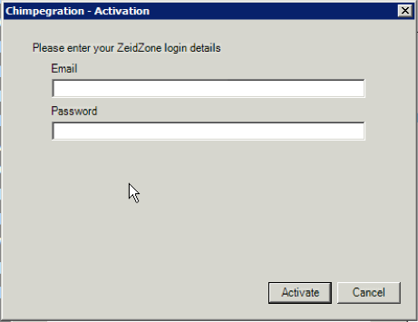 Activation will register your copy of Chimpegration with Zeidman Development. The process sends your organisation name and Raiser s Edge serial number to our secure servers.