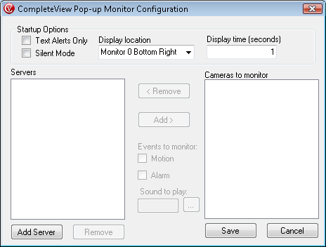 Configuration Basic Configuration and Adding Cameras for Event Monitoring 1.