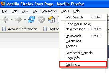 Firefox (Windows PC) From the