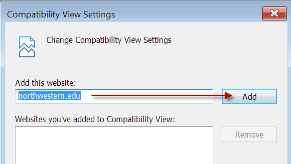 how to add compatibility view settings in firefox