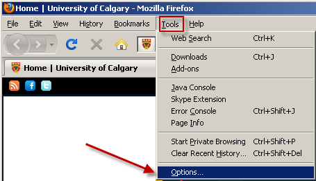 PC - Mozilla Firefox PC users who choose to use Firefox for their browser can use the instructions below to set their browser for PeopleSoft downloads. For this example we are using Mozilla Firefox 3.