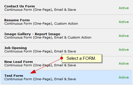 Adding a Form to a