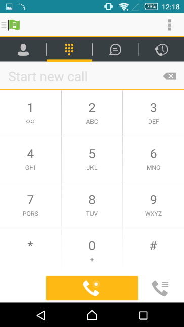 To download type in Horizon Smartphone App in either the Play Store or App store To make a call press
