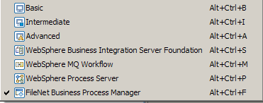 FileNet Business Process Manager Mode Filters out the ability to add the unsupported process elements Observers Timers Notification broadcasters Notification