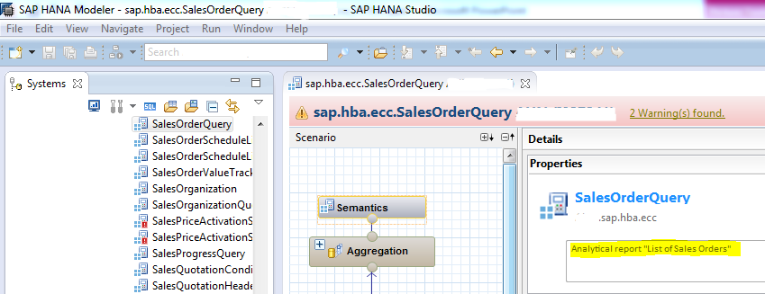 Integration Scenario A Transactional data exploration via HANA Live Query View in BEx Query Step 1 BEx Query: Choose InfoProvider Create a new query in BEx Query Designer and search in InfoAreas for