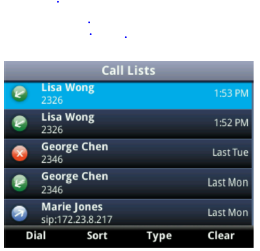 Viewing Recent Calls Your phone maintains a Recent Calls list a list of missed, received, and placed. Each list can hold up to 100 entries.