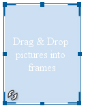 With a single photo frame selected, move your mouse/cursor to any corner of the frame.