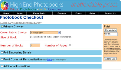 This is a screenshot of our website where you will complete your order. Yes, the website is prompting you to select a cover fabric even if you have created a printed cover yearbook.