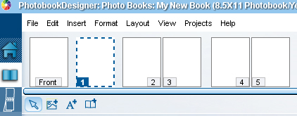 If you know how many pages you will need in your yearbook you can go ahead and add them in while the book is blank. You can select any page in the layout menu. Adding pages is done one at a time.