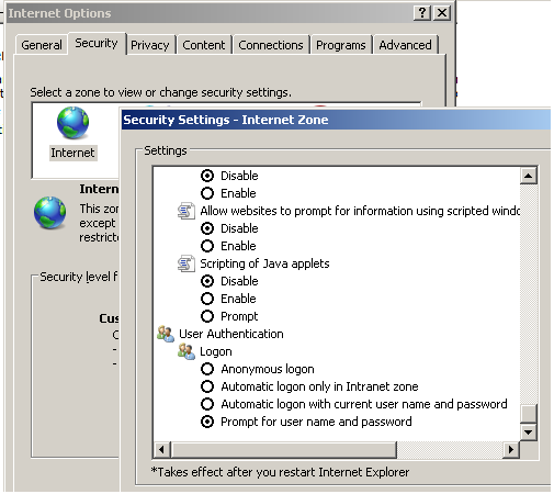 16 5.3 Browser Settings Before accessing the IBM Cognos Express Gateway, you must also verify that this website is added to IE s Local Intranet Security Zone on all end-user workstations.