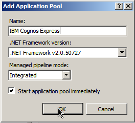 "7 and add the URL information where IBM Cognos Express is installed: <param name =""welcomeurloverride""> http://express_server_name:express_port/cognos_express/manager/welcome.html </param> 10."