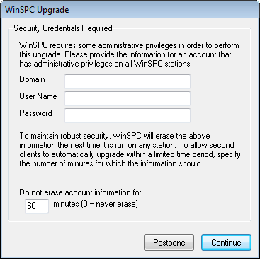 14. Complete this step only if a Security Credentials Required prompt appears.