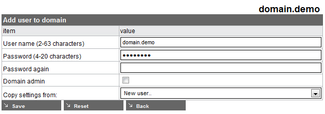 If you'd like this user to be able to manage the domain s settings on https://ames.avira.com, enable the Domain admin option.