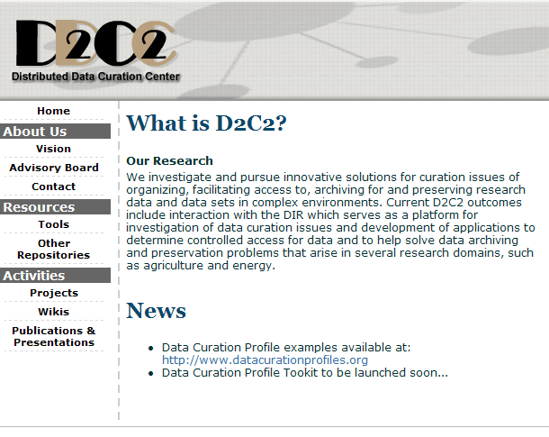 2006: Founded D2C2 to further investigations, organize