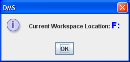 After selecting the Open button, you will see the dialog asking you to confirm your new workspace location, as pictured above. Select the Yes button.