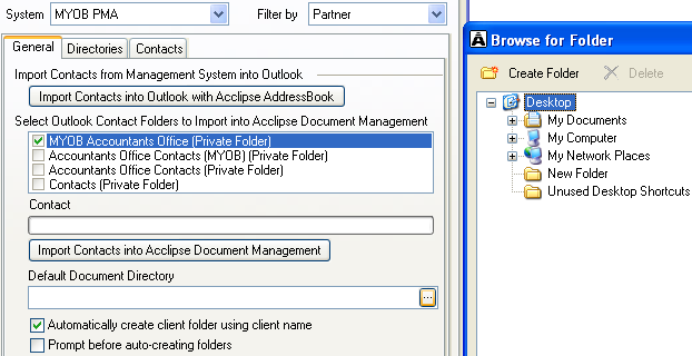 Select storage locations Browsing for a document directory To select the storage locations for Acclipse Document Manager: 1. Select the Directories tab. 2.