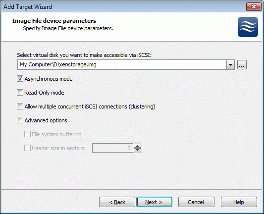 Set Image File device parameters.