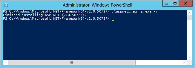 TIP: If you are using the 32-bit Edition of Windows and the.net Framework, you should use: cd %WINDIR%\Microsoft.NET\Framework\v2.0.50727 3. Then at the command prompt, type aspnet_regiis.